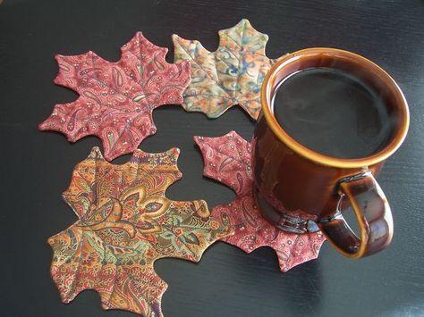Autumn leaves coaster tutorial