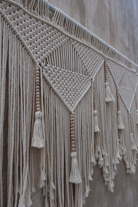 Large macrame wall hanging macrame headboard Home Decor   Etsy