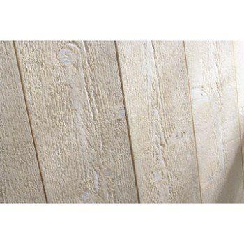 Lambris Sapin Brut De Sciage Blanc Artens L205 X L135 Cm
