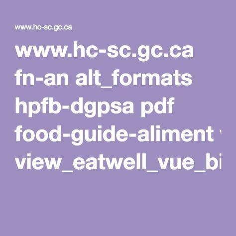 Guide alimentaire du Canada