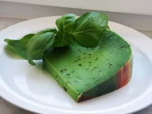 7 green foods including this cheese; it's pesto flavored and it supposedly makes awesome grilled cheese!