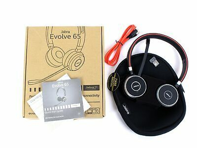Ebay Link Ad New Jabra Evolve 65 Stereo Uc Link 370 Bluetooth Wireless Headset 6599 829 409 Wireless Headset Headset Desktop Accessories