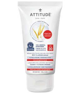 Attitude Sensitive Skin 100 Mineral Sunscreen Spf 30 Mineral Sunscreen Sensitive Skin Care Spf Sunscreen