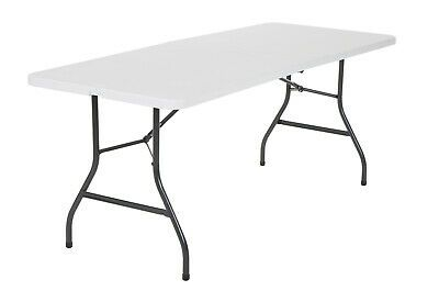 Cosco 6 Foot Centerfold Folding Table White Ebay Cosco Table