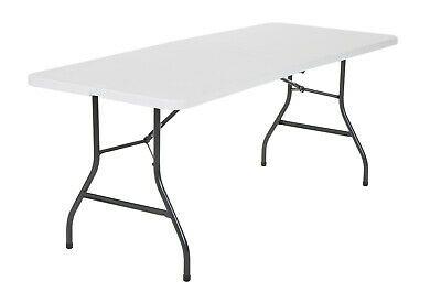 Cosco 6 Foot Centerfold Folding Table White Ebay Folding Table Cosco Table