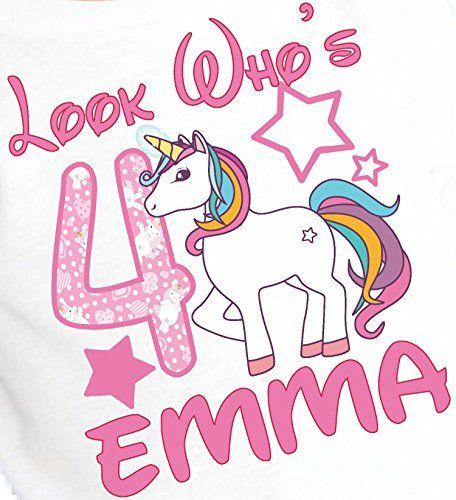 Girls Kids Youth My Little Unicorn Pony Personalized Birthday T Shirt Name Age