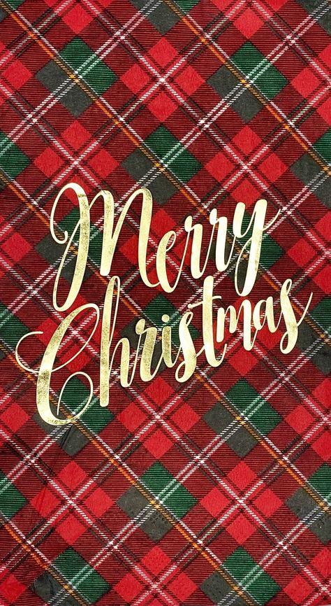 Merry Christmas Plaid Napkin