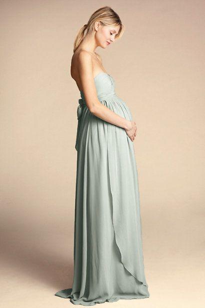 Morning Mist Cerise Maternity Dress Bhldn