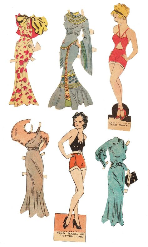 The Paper Collector: Tillie the Toiler paper dolls, c. 1930s