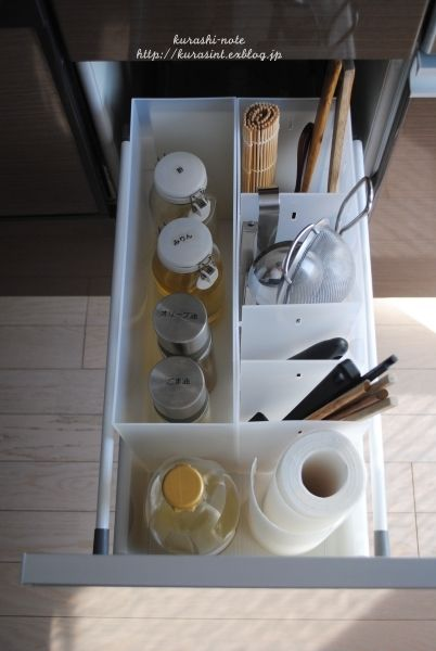 無印アイテムでキッチンツールと液体調味料の収納 クラシノート キッチンツール キッチンツール 収納 収納