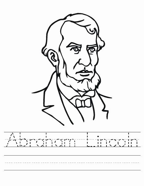 Abraham Lincoln Coloring Page Luxury Abraham Lincoln Worksheets Best Coloring Pages For Abraham Lincoln For Kids Abraham Lincoln Printables History Worksheets