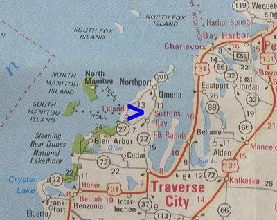 Leelanau Peninsula Map Leelanau Peninsula Michigan Pinterest