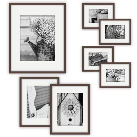 Gallery Perfect 7 Piece Walnut Frame Kit Walmart Com Wall Frame Set Gallery Wall Kit Gallery Wall Frames