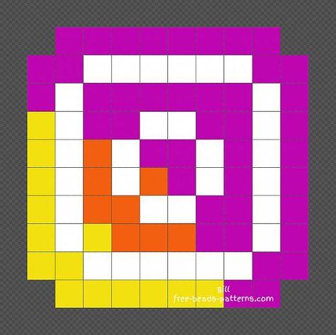 Instagram Logo Free Pixel Art Perler Beads Design 10x10