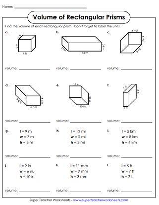 Volume Of Rectangular Prism Worksheet In 2020 Volume Worksheets Rectangular Prisms Rectangular Prism