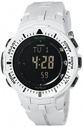 5d4a46bb5d9 Casio Men s Pro Trek PRG-300-7CR Solar Watch with Off-White Band  134.08