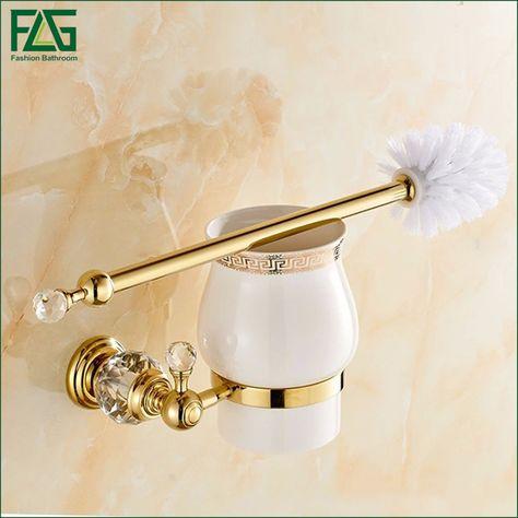 Pas cher FLG Tous Cuivre Cristal D\'or Toilette Porte Brosse ...