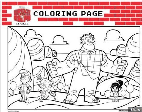 Coloriage Disney Ralph.Wreck It Ralph Coloring Pages Drawing And Coloring Theme Disney