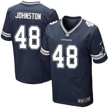 ffefa997bd1 NFL Nike Elite Dallas Cowboys #48 Daryl Johnston Navy Blue Retired Player Men's  Jersey