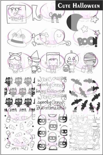 Halloween 2020 All Injuries CUTE HALLOWEEN 1 Stamping plate in 2020 | Cute halloween, Stamping