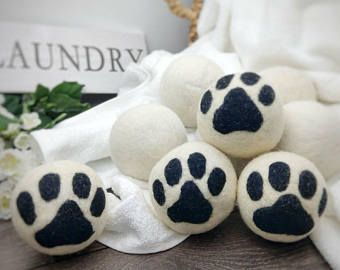 Dryer Ball Set Set Of 4 Xl Wool Laundry Balls Felted Wool Balls