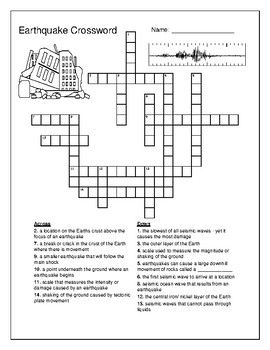 This Earthquake Crossword Puzzle Includes The Following Terms Epicenteraftershockfaultfocusmercalli Scaleearthquakelwavep Crossword Puzzle Crossword Earthquake