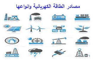 مصادر الطاقة الكهربائية وانواعها Energy Sources Energy Electricity