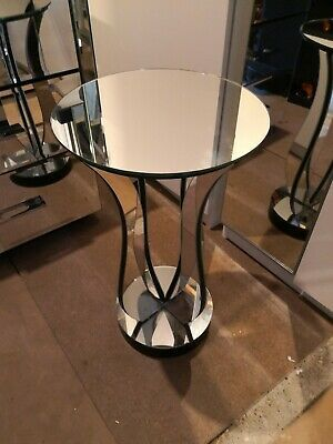Mirrored Crushed Diamond Coffee Table Contemporary Design Free