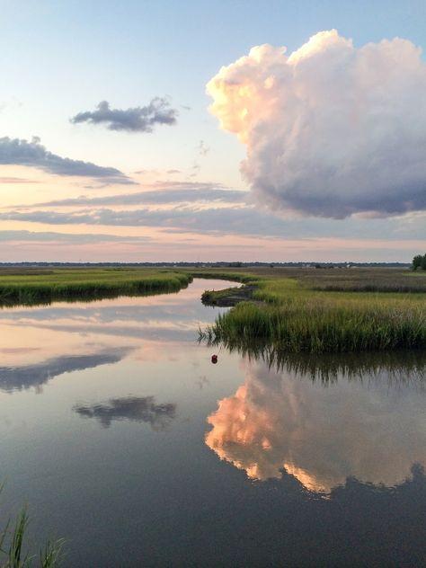 Why I love Charleston. Charleston Charm: Sunset Around the Stono Landscape Photos, Landscape Art, Landscape Paintings, Beautiful World, Beautiful Places, Nature Aesthetic, All Nature, Beautiful Landscapes, Beautiful Landscape Photography