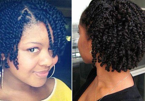Natural hair twist style