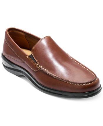 Cole Haan Nike Air Waterproof Brown Suede Leather Flats