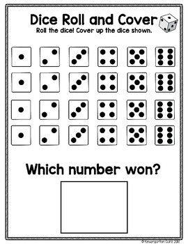 Exploring Math Tools Dice By Kindergarten Cafe Teachers Pay Teachers Kindergarten Math Activities Kindergarten Math Games Preschool Math Worksheets