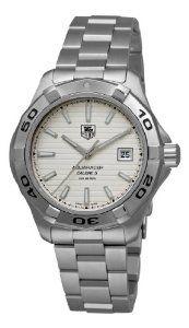 TAG Heuer Men's WAP2011.BA0830 Aquaracer Calibre 5 Silver Guilloche Dial Watch