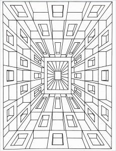 Optical Illusions Coloring Pages Street Art In 2020 Geometric Coloring Pages Pattern Coloring Pages Coloring Pages