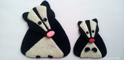 Felt or Applique Skunk Pattern