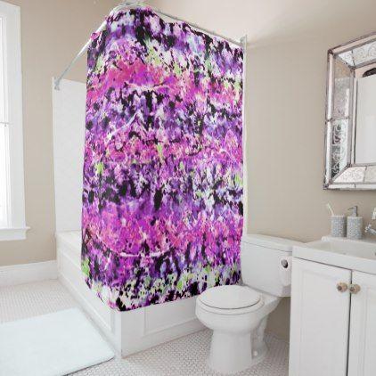 Purple Party Shower Curtain Zazzle Com Purple Shower Curtain