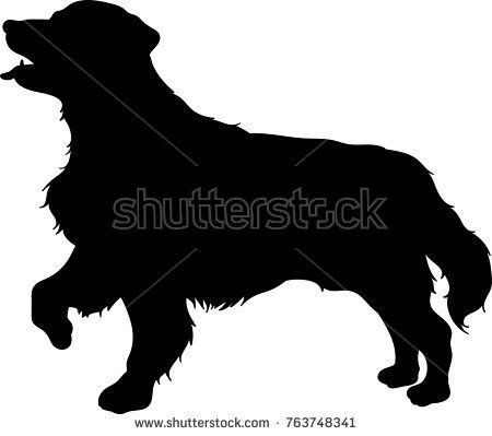 Vector Silhouette Of A Golden Retriever Dog Buy This Vector On