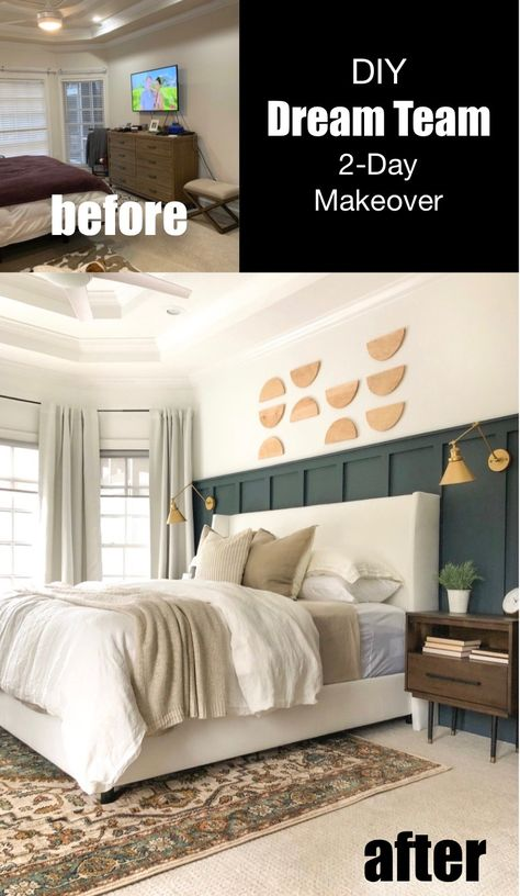 and teamed up to makeover a bedroom in only two days with Lowe's Home Improvement! Home Diy, Lowes Home Improvements, Home Bedroom, Home Improvement Projects, Bedroom Makeover, Home Remodeling, Bedroom Renovation, Home Projects, Remodel Bedroom