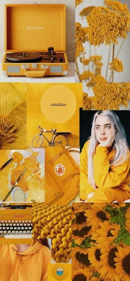 17 Ideas Billie Eilish Wallpaper Yellow Iphone Wallpaper Vintage Yellow Aesthetic Pastel Iphone Wallpaper Yellow