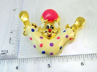 Large Vintage 80s Clown Head Brooch