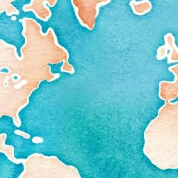 Watercolor World Map Generator Paper Crafts Water Color World