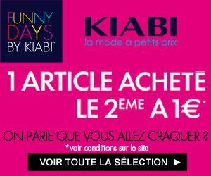 Les Funny Days de Kiabi : le 2ème article à 1 euro sur une sélection de produits + codes promos   Maxi Bons Plans