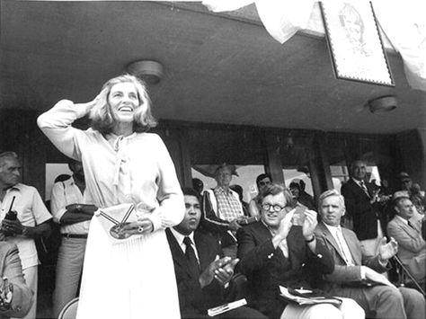 Mrs~~Eunice Mary Kennedy Shriver, (July 10, 1921 – August 11, 2009 sister of President John F. Kennedy and Senators Robert F. Kennedy and Ted Kennedy. Eunice Kennedy Shriver was the founder in 1962 of Camp Shriver which started on her Maryland farm known as Timberlawn and, in 1968 evolved into the Special Olympics. Her husband, Robert Sargent Shriver, Jr., was United States Ambassador to France and the Democratic vice presidential candidate in the 1972 U.S. presidential election.♡❤❤❤♡❤♡❤❤❤♡