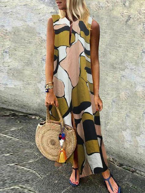 76f9dcee0b05d Buy Vintage Dresses Summer Dresses For Women at JustFashionNow. Online  Shopping Justfashionnow Sundress Vintage Dresses Columpio/de Oscilación V  Neck ...