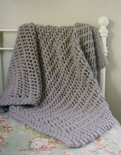 Wonderful Big Stitch Throw Knit Blanket Pinterest Stitch Big