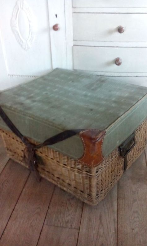 Brocante Rieten Koffer.Prachtige Oude Rieten Mand Koffer Webwinkel Webshop