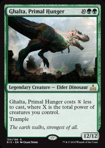 White Mythic MTG: Trapjaw Tyrant Magic Card Rivals of Ixalan