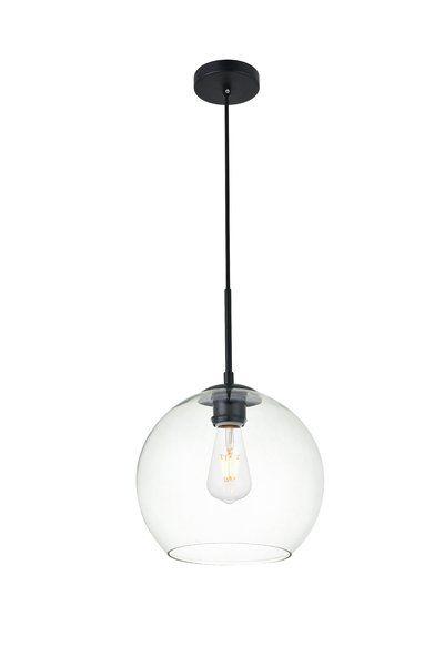 Yearwood 1 Light Single Globe Pendant Glass Globe Pendant