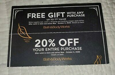 Bath Body Works Coupons Gift 20 Off Exp Oct 2020 In 2020 Discount Gift Cards Bath Body Works Coupon Gift Coupons
