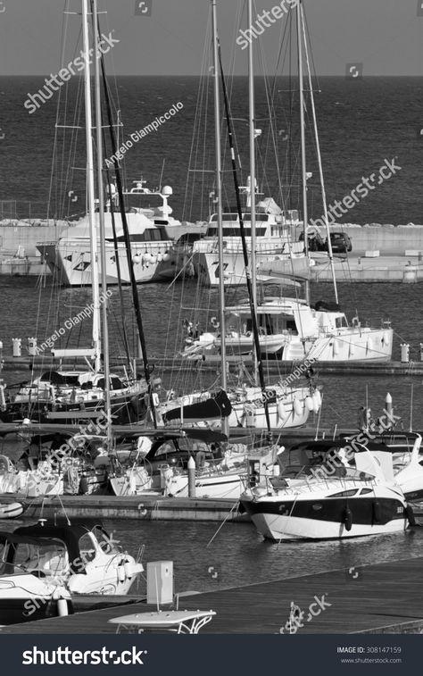 Italy, Sicily, Mediterranean sea, Marina di Ragusa; 19 august 2015, view of luxury yachts in the marina - EDIT #Ad , #AFFILIATE, #Marina#di#Ragusa#sea